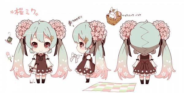 Tags: Anime, Shuzi, VOCALOID, Hatsune Miku, Sakura Design, Fanart From Pixiv, PNG Conversion, Fanart, Facebook Cover, Pixiv, Wallpaper