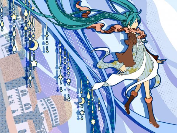 Tags: Anime, Junji (Greenjn3110), VOCALOID, Hatsune Miku, Hanging Star, 2000x1500 Wallpaper, Wallpaper