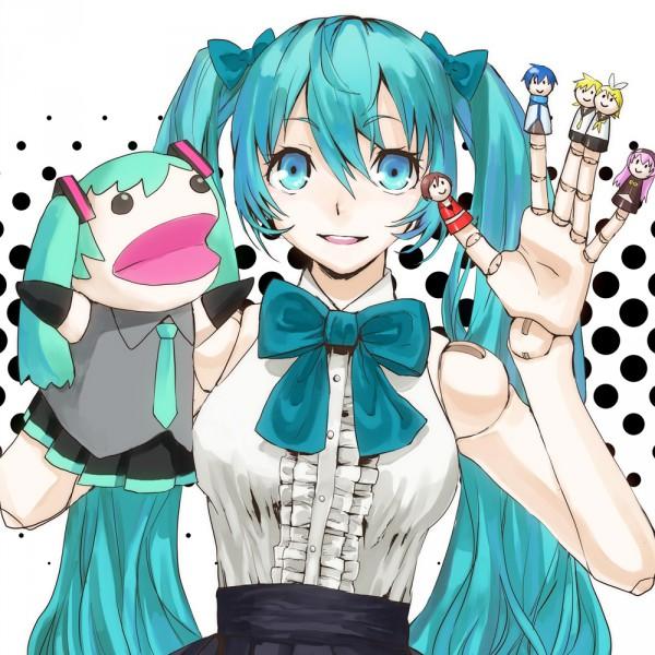 Tags: Anime, Masako, VOCALOID, Kagamine Len, Hachune Miku, Kagamine Rin, MEIKO (VOCALOID), Megurine Luka, Hatsune Miku, KAITO, Finger Puppet, Hand Puppet, Ball Jointed Doll