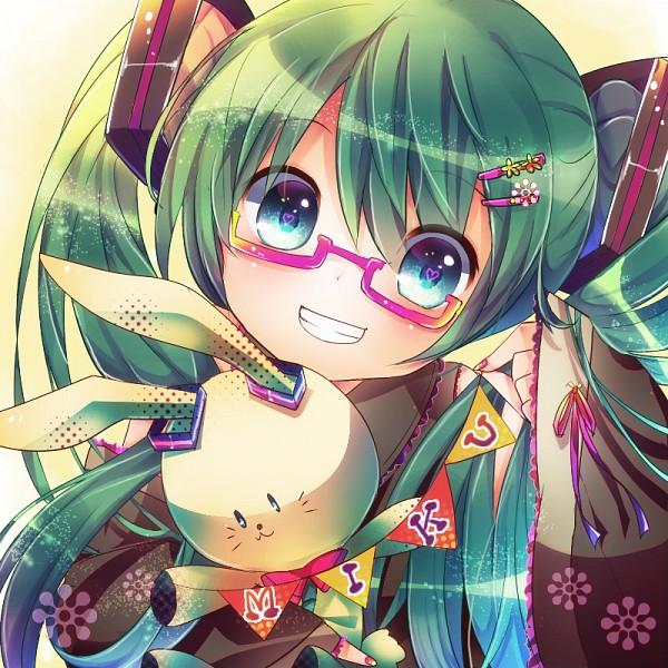Tags: Anime, Mizuno Eru, VOCALOID, Hatsune Miku, Bright Colors, Multi-colored Nails, Banner, PNG Conversion, Fanart, Pixiv, Fanart From Pixiv