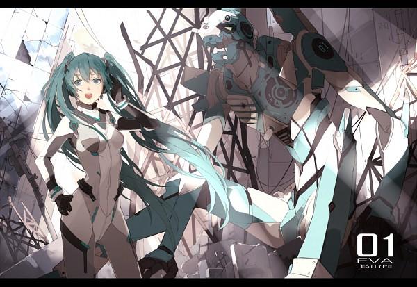 Tags: Anime, Nine (Pixiv3875056), VOCALOID, Hatsune Miku, Neon Genesis Evangelion (Parody), Neon Genesis Evangelion (Cosplay), Fanart From Pixiv, Fanart, Pixiv