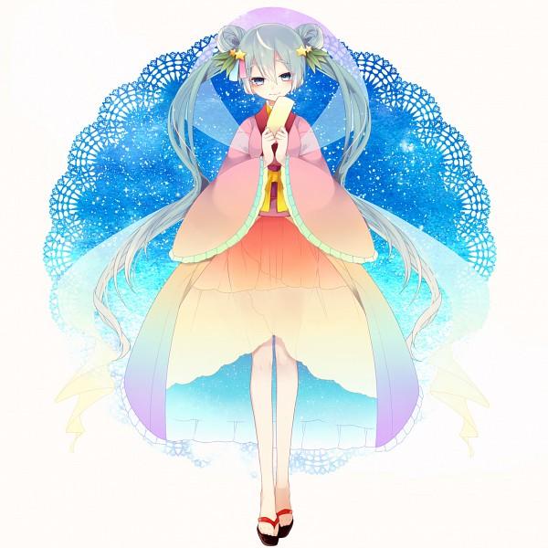 Tags: Anime, Pixiv Id 2798666, VOCALOID, Hatsune Miku, Fanart From Pixiv, Pixiv, Mid-Autumn Design, Fanart