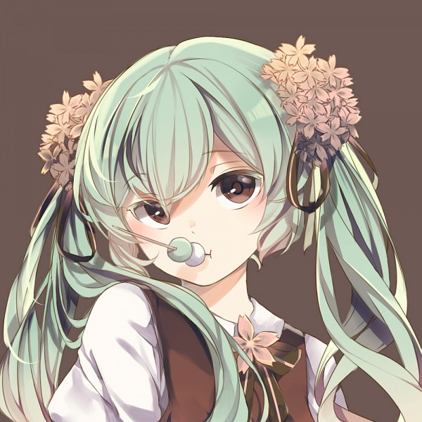 Tags: Anime, ameriya, VOCALOID, Hatsune Miku, Multi-colored Ribbon, Striped Ribbon, Fanart From DeviantART, Fanart, PNG Conversion, deviantART, Sakura Design, Mid-Autumn Design