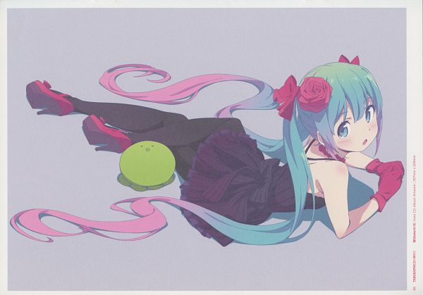 Tags: Anime, Kanzaki Hiro, Tabgraphics Works: 2014-2015 Illustrated Collection 2, VOCALOID, Hatsune Miku, Comic Market 89, Scan