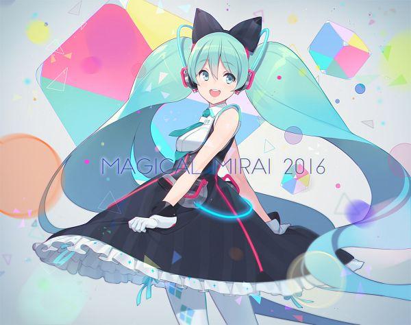 Tags: Anime, Ssberit, VOCALOID, Hatsune Miku, Aqua Neckwear, Cube, Twitter, Magical Mirai 2016, Revision, Magical Mirai, Fanart From Pixiv, Fanart, Pixiv