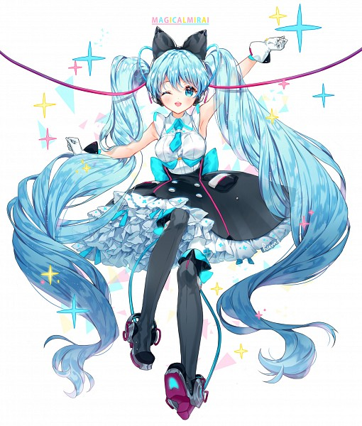 Tags: Anime, Rarumi, VOCALOID, Hatsune Miku, Fanart From Pixiv, Fanart, PNG Conversion, Magical Mirai 2016, Pixiv, Magical Mirai