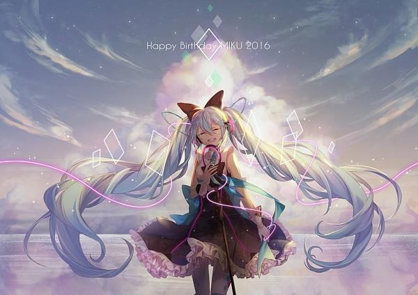 Tags: Anime, Minland4099, VOCALOID, Hatsune Miku, Aqua Neckwear, Fanart, Fanart From Pixiv, Magical Mirai 2016, Pixiv, Magical Mirai