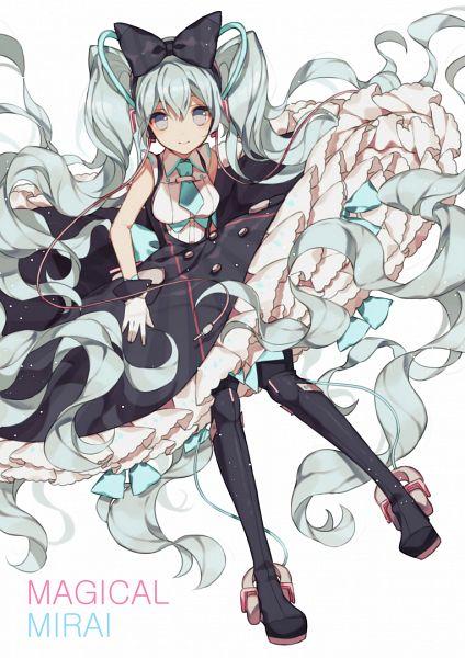Tags: Anime, TKN (Pixiv5660890), VOCALOID, Hatsune Miku, Pixiv, Magical Mirai, Fanart From Pixiv, Fanart, Magical Mirai 2016, PNG Conversion, Mobile Wallpaper
