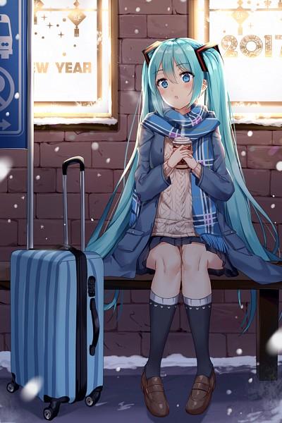 Tags: Anime, Pixiv Id 13779480, VOCALOID, Hatsune Miku, Mobile Wallpaper, Fanart, Fanart From Pixiv, Pixiv, Happy 2017