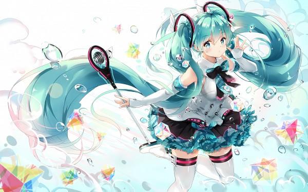 Tags: Anime, KyoD+, VOCALOID, Hatsune Miku, Fanart, Magical Mirai 2017, Pixiv, Magical Mirai, Wallpaper, Fanart From Pixiv, PNG Conversion