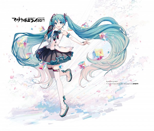 Tags: Anime, iXima, VOCALOID, Hatsune Miku, Cube, Official Art, Magical Mirai 2017, Magical Mirai
