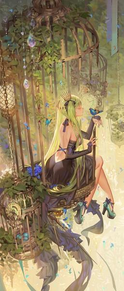 Tags: Anime, Alphonse, VOCALOID, Hatsune Miku, Bridal Gauntlets, Blue Bird, Fanart, Revision, Pixiv, Fanart From Pixiv