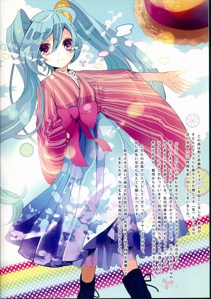 Tags: Anime, Musou Yuchi, VOCALOID, Hatsune Miku, Couture (Artbook), Fanart, Pixiv, Scan, Mobile Wallpaper, Fanart From Pixiv