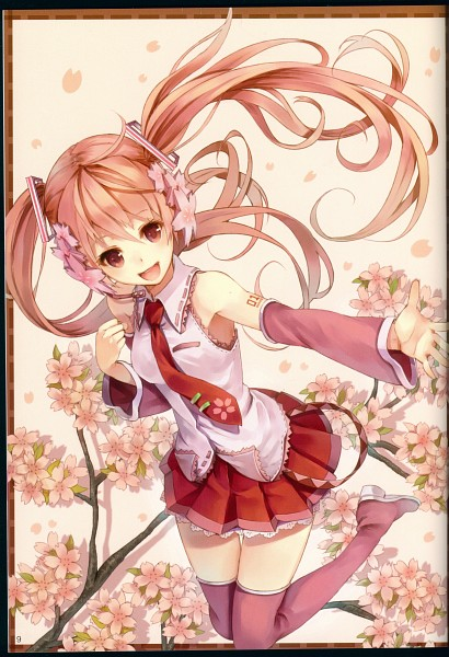 Tags: Anime, Paseri, VOCALOID, Hatsune Miku, Fanart, Pixiv, Mobile Wallpaper, Scan, Sakura Design, Fanart From Pixiv