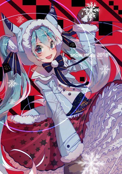 Tags: Anime, Pixiv Id 13695413, VOCALOID, Hatsune Miku, Star Print, Mittens, Pixiv, Yuki Design, Fanart From Pixiv, Fanart, Mobile Wallpaper