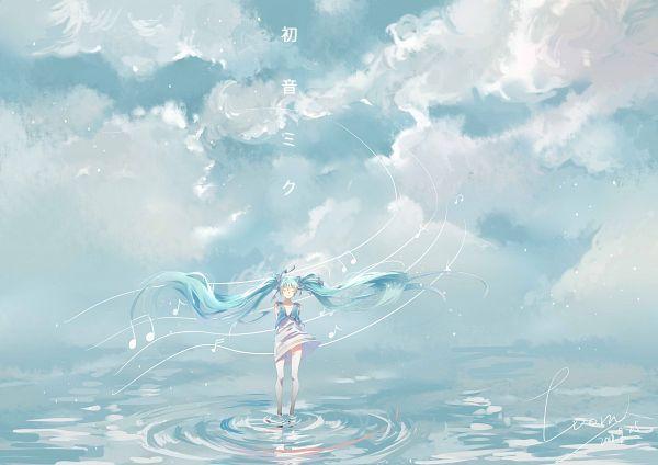 Tags: Anime, Pixiv Id 13695413, VOCALOID, Hatsune Miku, Music Staff, Ripples, Fanart From Pixiv, Fanart, Pixiv
