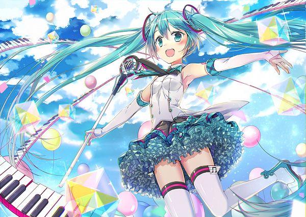 Tags: Anime, Ei (Pakirapakira), VOCALOID, Hatsune Miku, Cube, Keyboard (Instrument), Fanart, Magical Mirai 2017, Magical Mirai