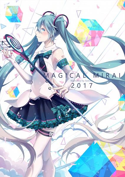 Tags: Anime, Somnia, VOCALOID, Hatsune Miku, Cube, Magical Mirai 2017, Magical Mirai, Fanart From Pixiv, Fanart, Pixiv