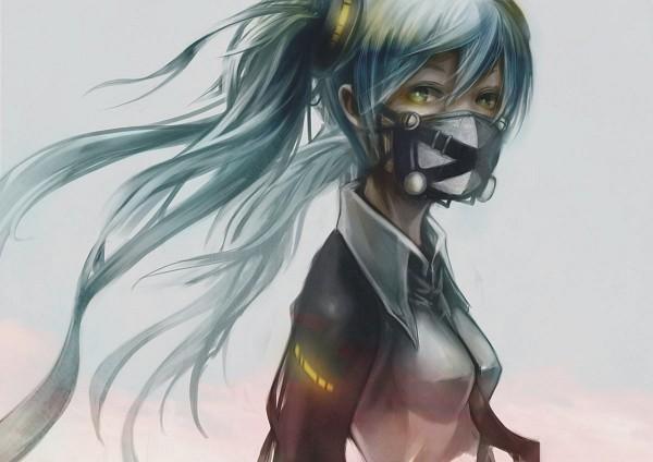 Tags: Anime, Pixiv Id 41167, VOCALOID, Hatsune Miku, Half Mask, Fanart From Pixiv, Fanart, Pixiv, Revision, Wallpaper