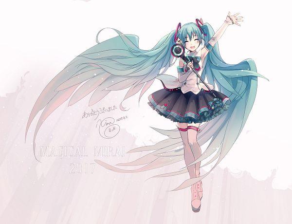 Tags: Anime, iXima, VOCALOID, Hatsune Miku, Hair Wings, Magical Mirai, Official Art, Magical Mirai 2017
