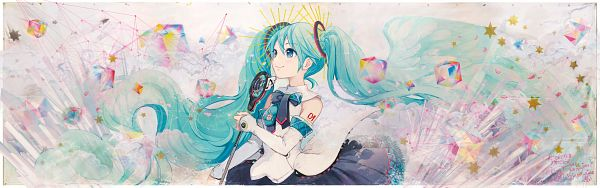 Tags: Anime, iXima, VOCALOID, Hatsune Miku, Taboo (Vocaloid), Wallpaper, Magical Mirai 2017, Magical Mirai