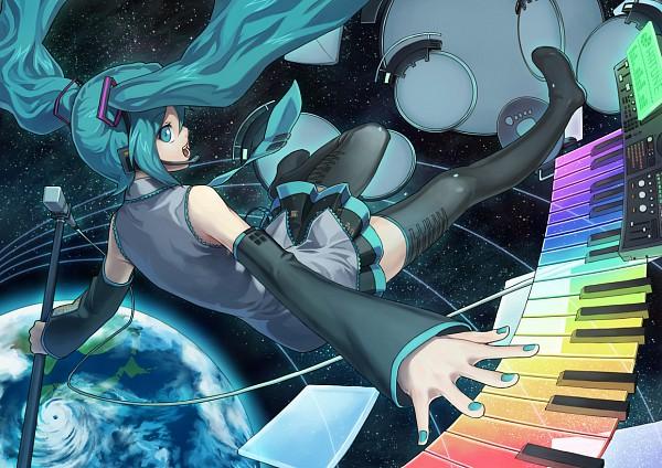 Tags: Anime, Ryuutetsu, VOCALOID, Hatsune Miku, Keyboard (Instrument)