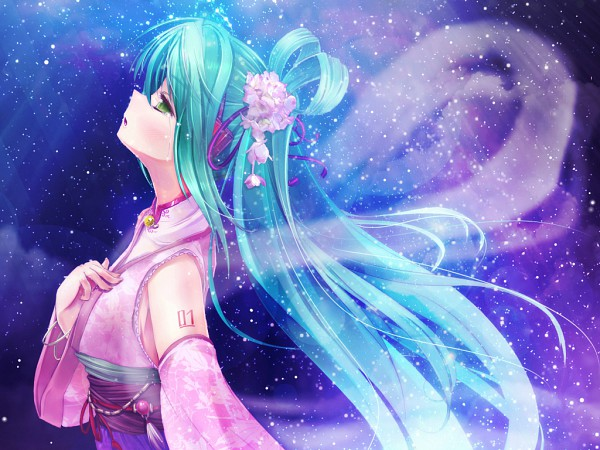 Tags: Anime, Scarlet (Studioscr), VOCALOID, Hatsune Miku, Tanabata, Wallpaper