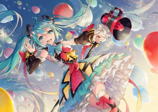 Tags: Anime, Minland4099, VOCALOID, Hatsune Miku, Fanart From Pixiv, Fanart, Pixiv, Magical Mirai 2018, Wallpaper, Magical Mirai