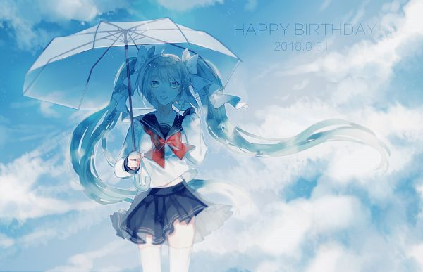 Tags: Anime, Nana Kagura, VOCALOID, Hatsune Miku, Pixiv, Fanart, Fanart From Pixiv