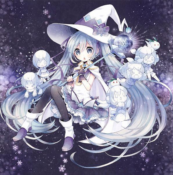 Tags: Anime, Niwako, VOCALOID, Hatsune Miku, KAITO, Kagamine Len, MEIKO (VOCALOID), Kagamine Rin, Megurine Luka, Snow Rabbit, Fanart, Pixiv, Yuki Design 2015