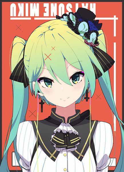 Tags: Anime, ZYre, VOCALOID, Hatsune Miku, Earbuds, Pixiv, Fanart, Fanart From Pixiv