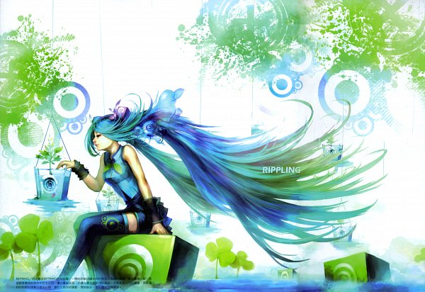 Tags: Anime, VOCALOID, Hatsune Miku, Self Scanned, Scan
