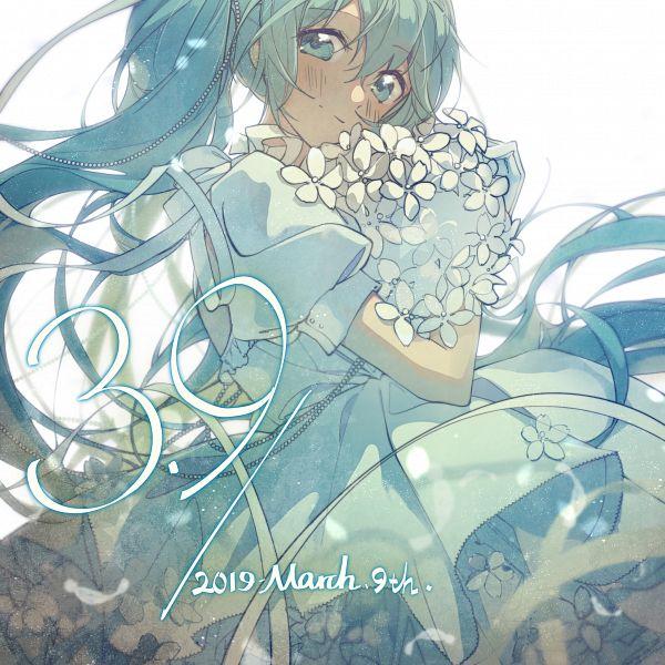 Tags: Anime, Pixiv Id 6898512, VOCALOID, Hatsune Miku, Fanart From Pixiv, Pixiv, Hatsune Miku Day, Fanart