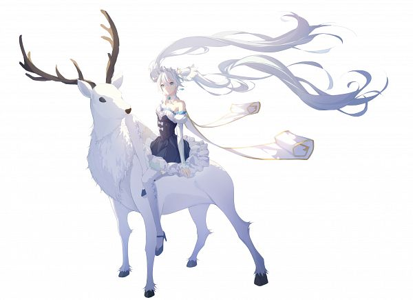 Tags: Anime, Pixiv Id 16927522, VOCALOID, Hatsune Miku, Deer, Fanart From Pixiv, Fanart, Pixiv, Yuki Design