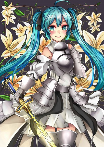Tags: Anime, Pixiv Id 20398834, VOCALOID, Hatsune Miku, Saber Lily (Cosplay), Pixiv, Fanart, Fanart From Pixiv