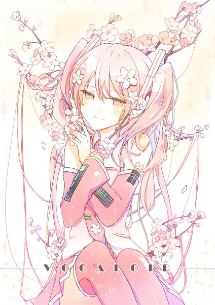 Tags: Anime, EMO (Pixiv1444298), VOCALOID, Hatsune Miku, Pixiv, Sakura Design, Fanart, Fanart From Pixiv