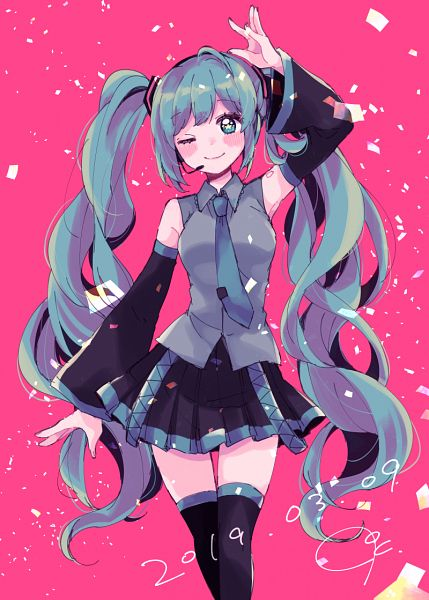 Tags: Anime, Pixiv Id 6297639, VOCALOID, Hatsune Miku, Pixiv, Hatsune Miku Day, Fanart, Fanart From Pixiv