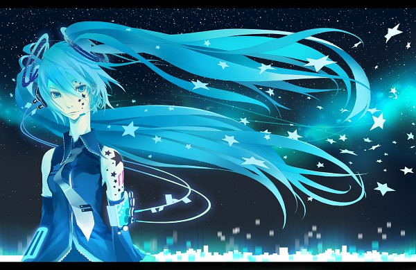 Tags: Anime, VOCALOID, Hatsune Miku, Galaxy