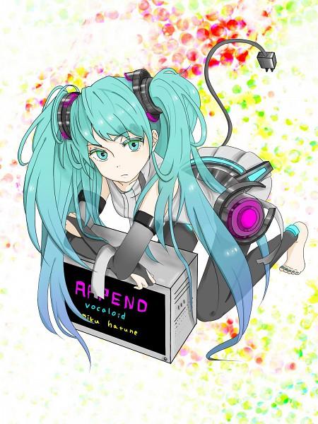 Tags: Anime, VOCALOID, Hatsune Miku, Artist Request, Append