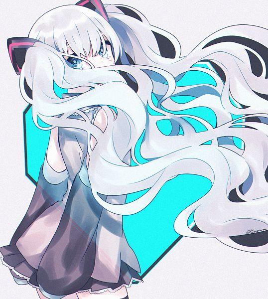 Tags: Anime, Tsubaki Tsubaru, VOCALOID, Hatsune Miku, Fanart, Fanart From Pixiv, Pixiv