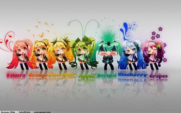Tags: Anime, Neko Sakana, VOCALOID, Berry Miku, Hatsune Miku, 2560x1600 Wallpaper, Sakura Design, HD Wallpaper, Wallpaper