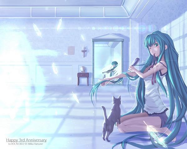 Tags: Anime, magz, VOCALOID, Hatsune Miku, Different Reflection, Pixiv, Fanart