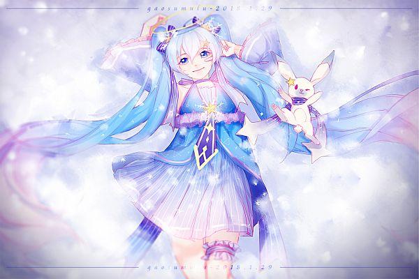 Tags: Anime, Pixiv Id 14727506, VOCALOID, Rabbit Yukine, Hatsune Miku, Fanart From Pixiv, Pixiv, Yuki Design 2017, Yuki Design, Fanart