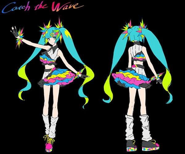 Tags: Anime, LAM, Project DIVA MEGA39's, VOCALOID, Hatsune Miku, Official Art, Character Sheet