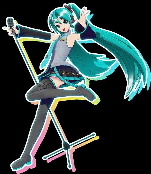 Tags: Anime, Sega, Project DIVA MEGA39's, VOCALOID, Hatsune Miku, 3D, Key Visual, Official Art