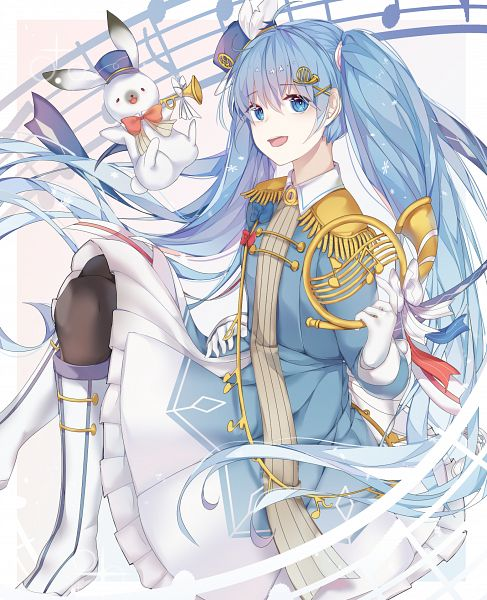 Tags: Anime, Pixiv Id 24238126, VOCALOID, Rabbit Yukine, Hatsune Miku, Fanart From Pixiv, Yuki Design 2020, Pixiv, Yuki Design, Fanart