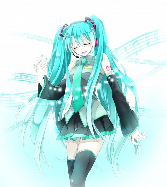 Tags: Anime, Pixiv Id 29435033, VOCALOID, Hatsune Miku, Aqua Nails, Bokeh, Fanart From Pixiv, Fanart, Pixiv