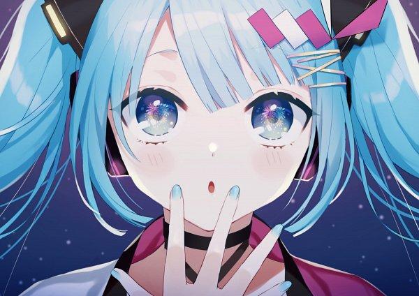 Tags: Anime, Pixiv Id 8440870, VOCALOID, Hatsune Miku, Beautiful Eyes, Fanart, Fanart From Pixiv, Magical Mirai 2020, Pixiv, Magical Mirai