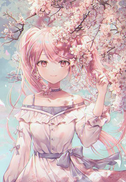 Tags: Anime, ozzingo, VOCALOID, Hatsune Miku, Pixiv, Sakura Design, Fanart, Fanart From Pixiv