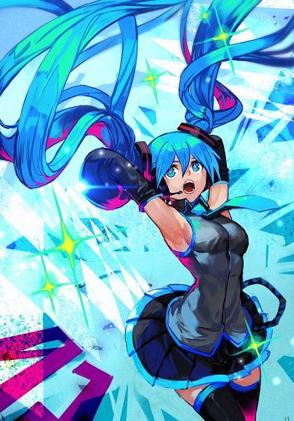 Tags: Anime, Hankuri, VOCALOID, Hatsune Miku, Twitter, Fanart